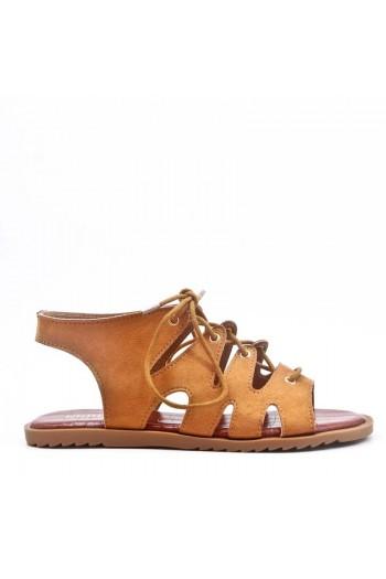 Sandale Plat En En Simili Daim