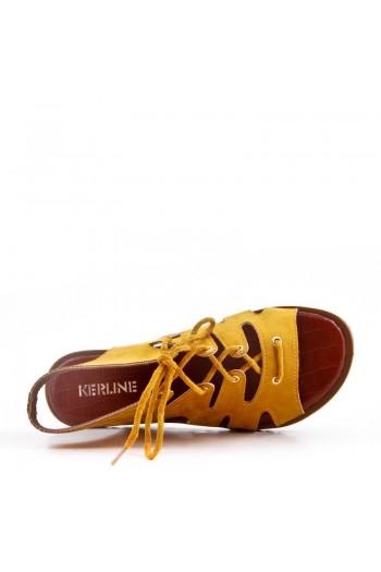 Sandale Plate En Simili Daim