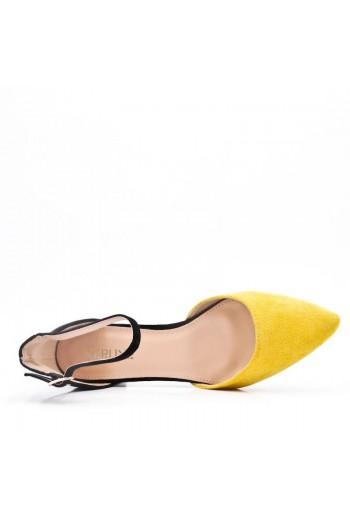 Sandale Pointues Plat En Simili Daim