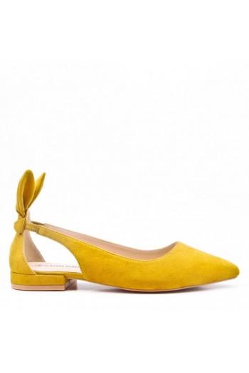 Sandale Plat En Simili Daim Avec Lapin Oreille