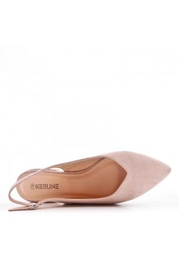 Sandale Plat En Simili Daim